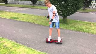 First time rider on an ABU Glide mini segway hoverboard