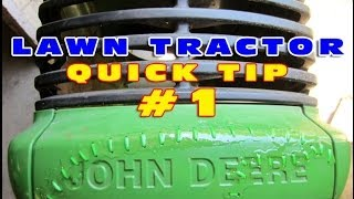 Lawn Tractor Quick Tip #1 - HOOD SURGERY On John Deere