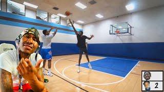 Duke Dennis Reacts To CashNasty 1v1 Basketball Against 7'5 Giant Hooper Hooper