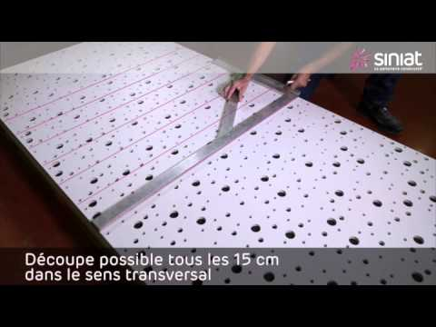 Pose DUn Plafond Avec Plaques Dcoratives Prgybel A  Perforations