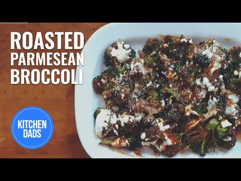 How to Make Roasted Broccoli Parmesan with Tomatoes and Mozzarella | Kitchen Dads Cooking