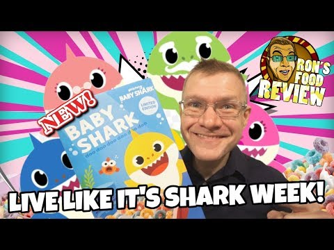 NEW!! KELLOGG'S BABY SHARK CEREAL!! TASTE AND REVIEW!!