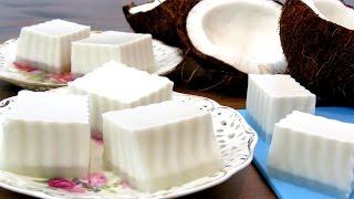 How To Make Coconut Pudding 椰汁糕 香滑椰汁糕的做法_椰汁糕的做法大全_怎么做椰汁糕