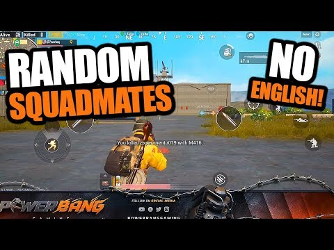SQUADS With RANDOMS - THEY DIDN'T SPEAK ENGLISH - PUBG Mobile