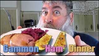 How To Make Gammon Ham, Red Cabbage & Zucchini - Day 16,561