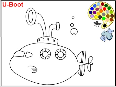 Submarine Coloring Pages For Kids Submarine Coloring Pages YouTube