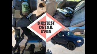 Dirtiest Car Interior Ever   Deep cleaning an Isuzu Rodeo   Daniels Garage