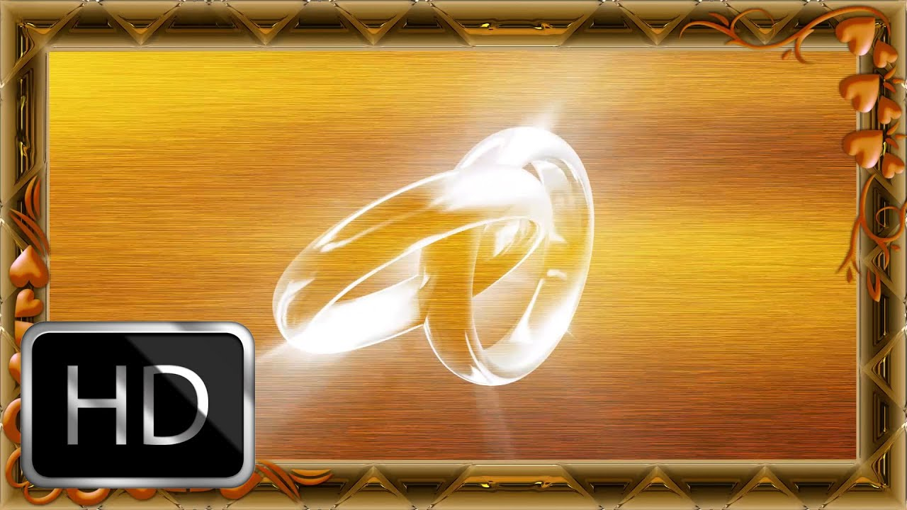 Free Rings Motion Backgrounds-Wedding Background HD