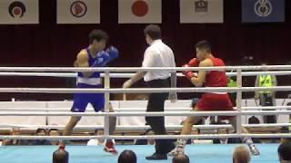 2019 全日本 75kg級 田中廉人 対 赤井英五郎 BOXING