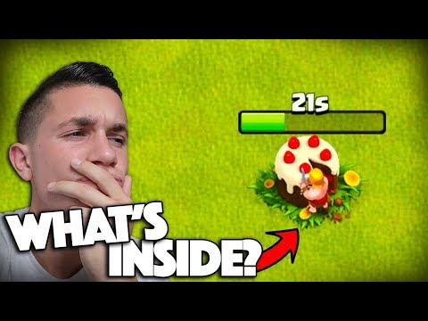 WHAT'S INSIDE THE CAKE?! Clash of Clans Birthday UPDATE!