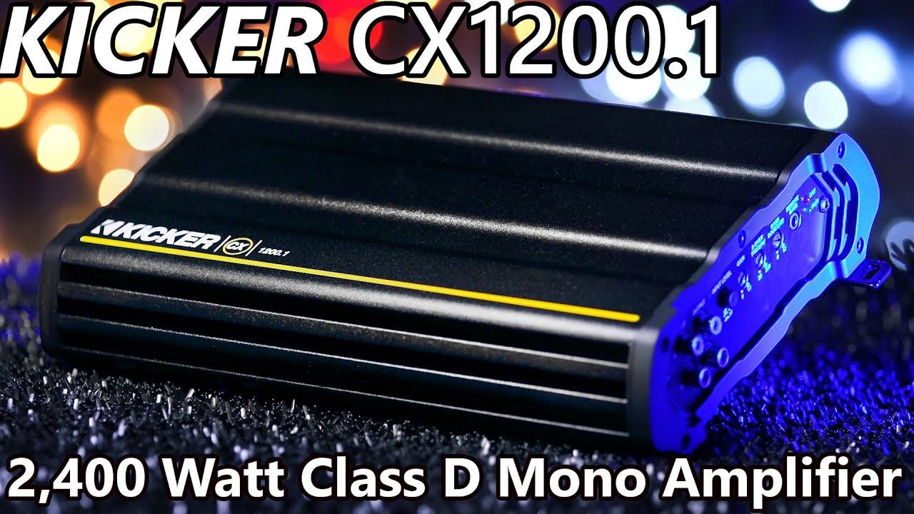 kicker cx1200 1 class d mono amplifier 2 400 watts  [ 1280 x 720 Pixel ]