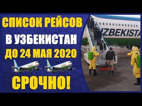 СРОЧНО!! Чартерные рейсы полный список до 24 мая.