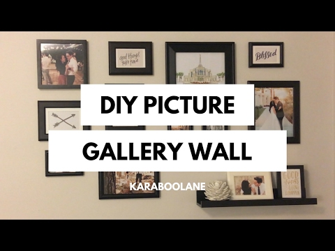 DIY PINTEREST PICTURE GALLERY WALL: SUPER  EASY PICTURE COLLAGE