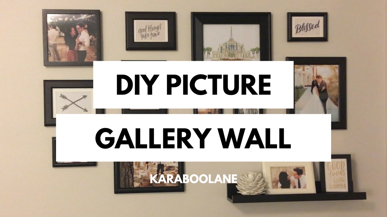 DIY PINTEREST PICTURE GALLERY WALL: SUPER EASY PICTURE COLLAGE - YouTube