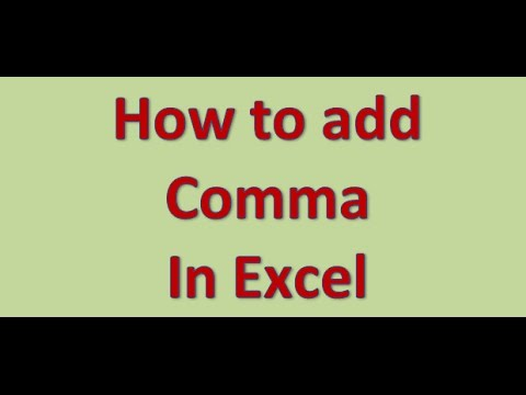 how to know when to insert a comma