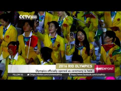 Olympics officially opened as ceremony is held