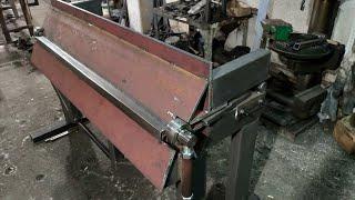 Обзор конструкции мощного листогиба для металла 2.5мм / мощный гибочный станок