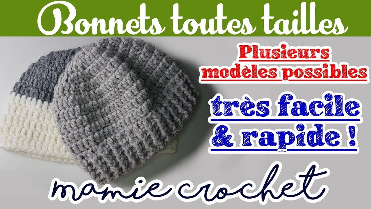 chaussures exclusives nouvelles variétés prix de liquidation Faire un bonnet au crochet de la taille bébé à la taille adulte