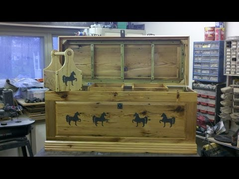★DIY Reclaimed Barn Wood Equine / Horse Tack Box / Chest Build. antique equestrian wooden locker