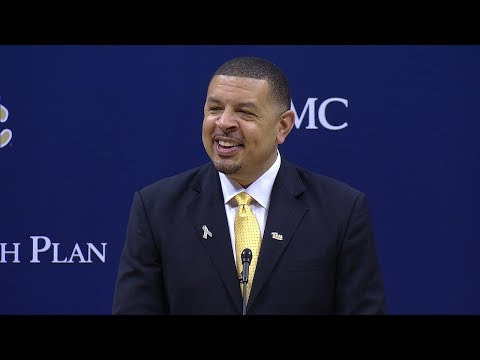 Pitt Men's Basketball   Head Coach Jeff Capel Introductory Press Conference