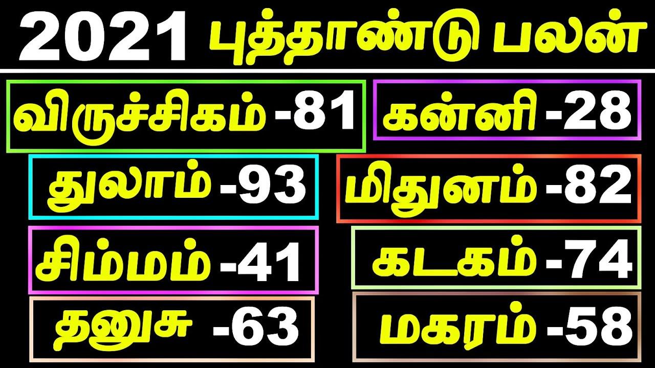 2021 Rasi Palan Marks | 2021 Rasi Palan in Tamil | 2021 Puthandu Palan | 2021 New Year Rasi Palan