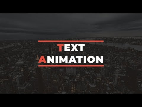 Simple Text Animation Just By Using HTML & CSS