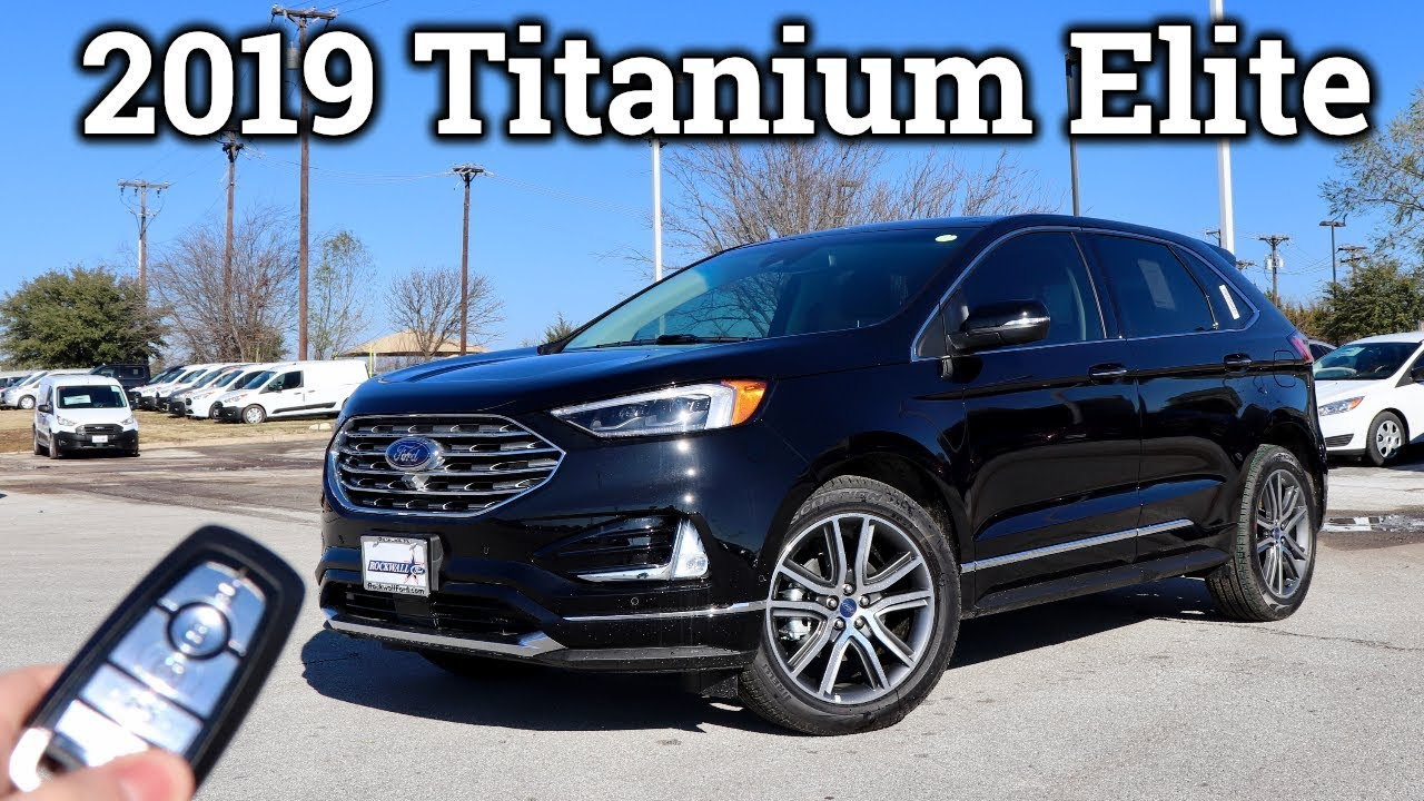 ford edge titanium elite loaded  row youtube