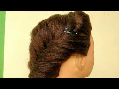 Awesome Side Puff With Fishtail Braid Hairstyle Front Side