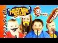 Mustache SMASH Game! Family Game Night + Surprise Marvel Blind Bag Prize HobbyKidsTV