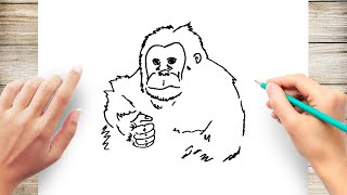 How to Draw Orang Utan Step by Step for Kids