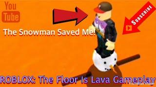ROBLOX iOS: The Floor Is Lava Gameplay - Der Schneemann rettete mich