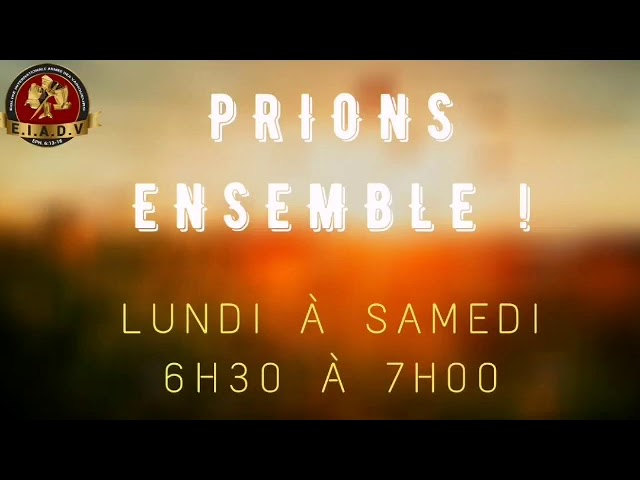 Prions ensemble - 18/01/21 - Pst. O. Sarr
