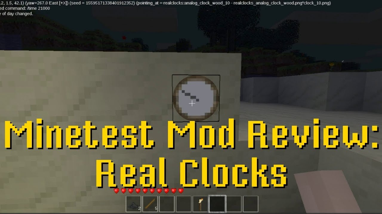 Minetest Mod Review: Real Clocks - YouTube