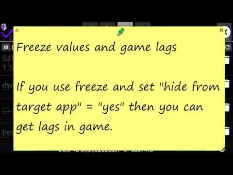Freeze values and game lags - GameGuardian