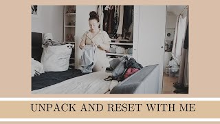 UNPACK WITH ME | holiday reset | Clean and organise