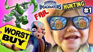 SKYLANDERS IMAGINATORS HUNTING Part 1: WORST BUY DAY 1!!  Steel Plated Frustration Madness Chase