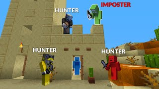 Minecraft Speedrunner Vs 4 Hunters But One Is An Imposter