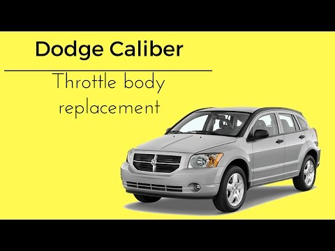 2007-2012 Dodge Caliber Red Lightning Bolt Check Engine Light Throttle Body How To Replace