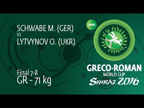 Final 7-8 GR - 71 kg: M. SCHWABE (GER) df. O. LYTVYNOV (UKR) by TF, 11-2