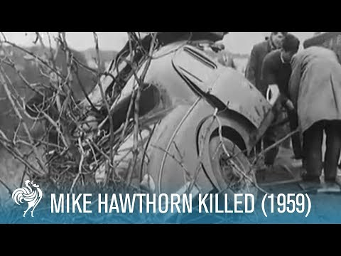 Mike Hawthorn Killed: A Formula One World Champion (1959) | British Pathé