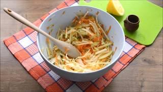 Самый вкусный салат из дайкона с морковью, яблоком, капустой и растительным маслом