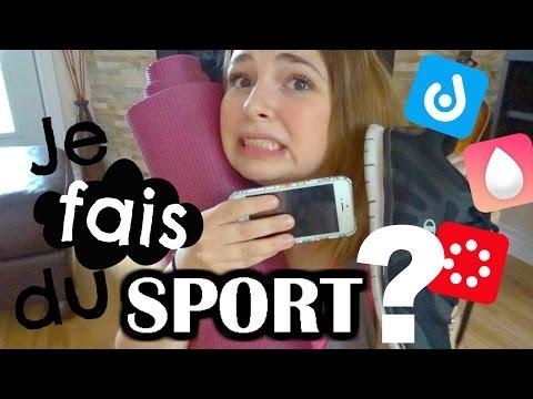 Je teste des applications pour faire du sport! // 7min challenge, Sweat with Kayla, Daily Yoga
