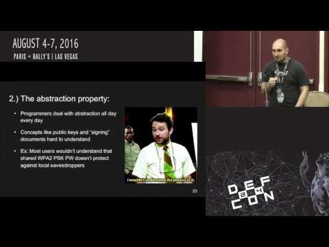 DEF CON 24 Crypto and Privacy Village - Greg Norcie - My Usability Goes to 11 A Hackers Guide to Use