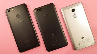 Vivo V7 Plus vs MI A1 vs Redmi Note 4 SPEED TEST COMPARISON!!