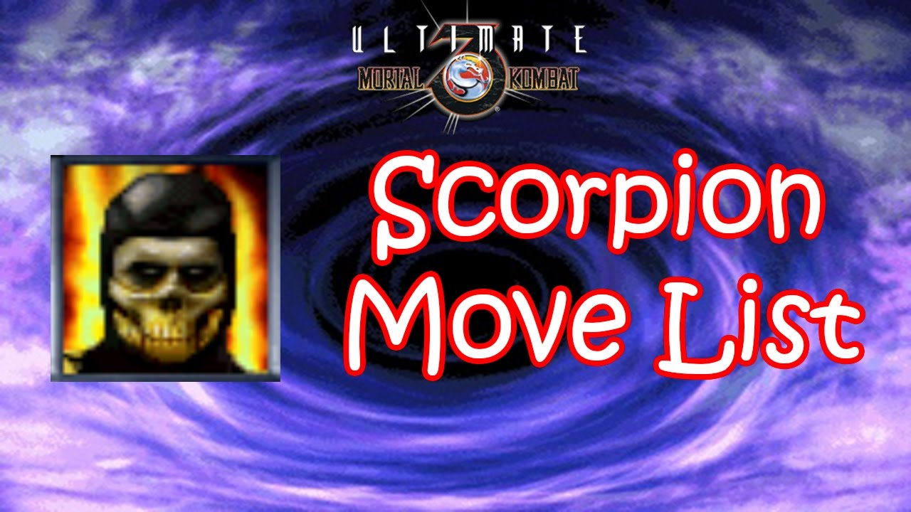 UMK3 - Scorpion Move List