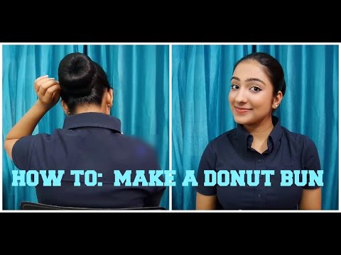 HOW TO : MAKE A DONUT BUN(PERFECT FOR INTERVIEWS/PARTIES/WORK)