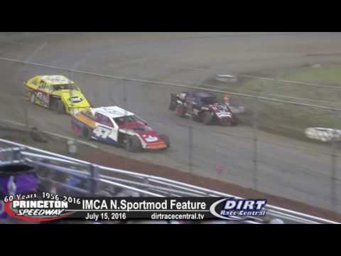 Princeton Speedway 7/15/16 IMCA Northern Sportmod feature highlights