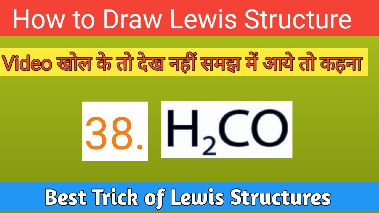 38  Lewis Dot Structure Of H2co