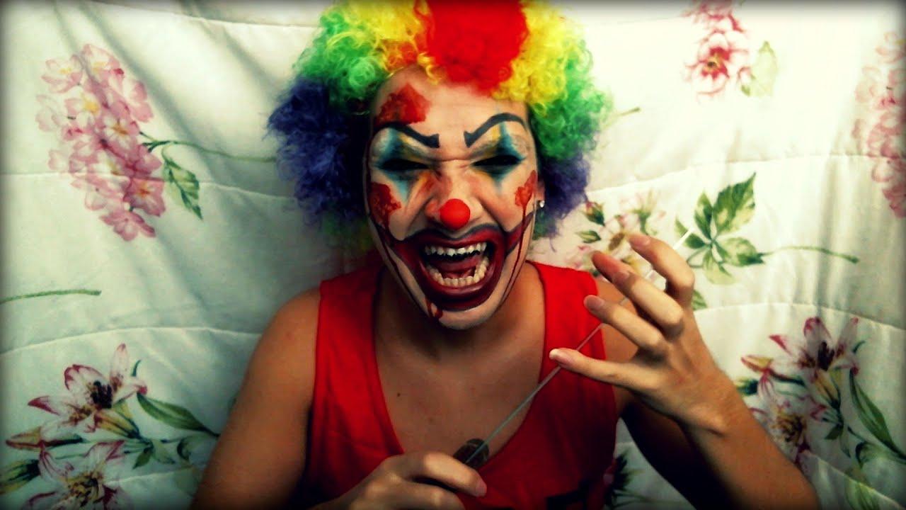 Scary girl clown makeup