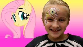 Пони: Рисуем Пони на лице. Пони Флатершай. Аквагрим. Pony Fluttershy. akvagrim(Я обожаю Пони и мне нарисовали на лице мою любимую Поняшку, пони Флатершай. Я с этим рисунком ходила весь..., 2015-10-31T15:00:00.000Z)